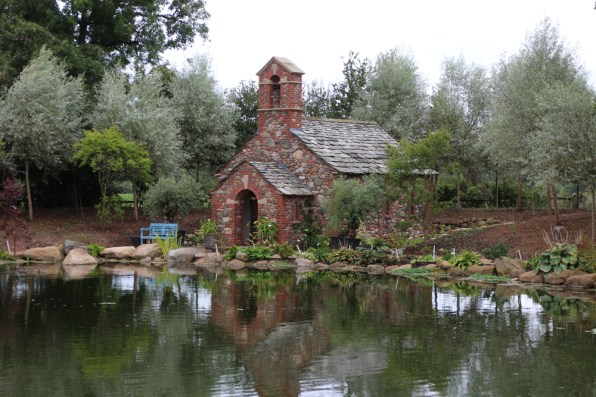 The chapel garden, which is maturing into a beautiful tranquil spot