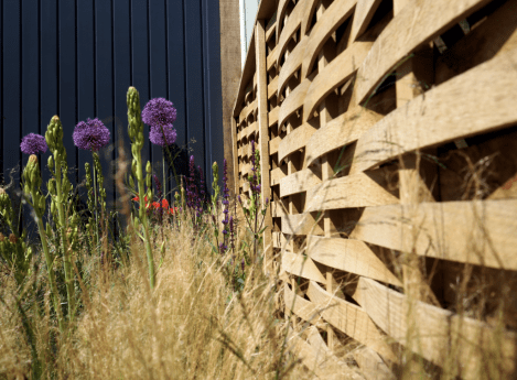I love this wonderful woven fence, which is to be spotted at the Bull Ring entrance in the sculpture exhibits