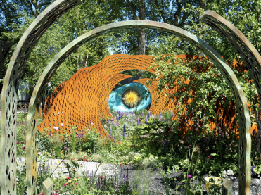 Designed by Nic Howard, The David Harber and Savills Garden is a masterpiece of design, with cottage garden planting including drifts of perennials and grasses in an exciting matrix of sculpture