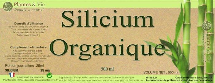 Silicium Organique Plantes&Vie