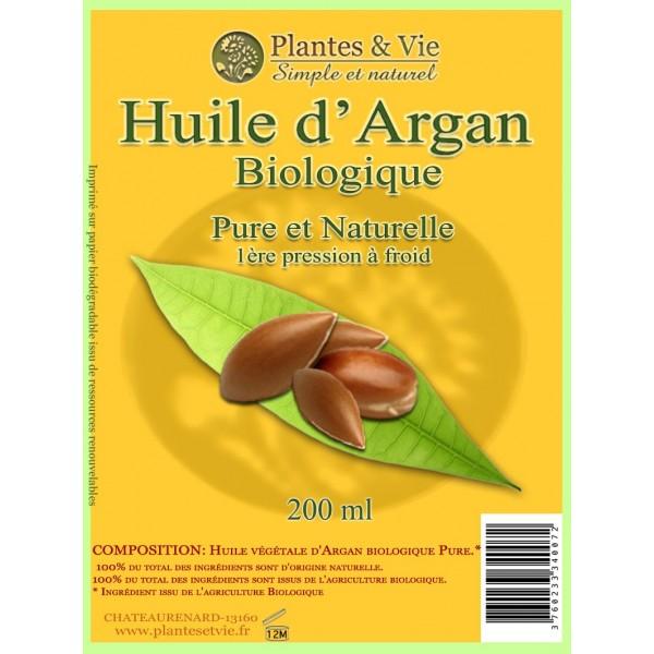 Huile d'Argan Biologique Pure 200 ml
