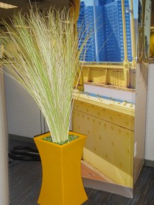 yellow artificial plants