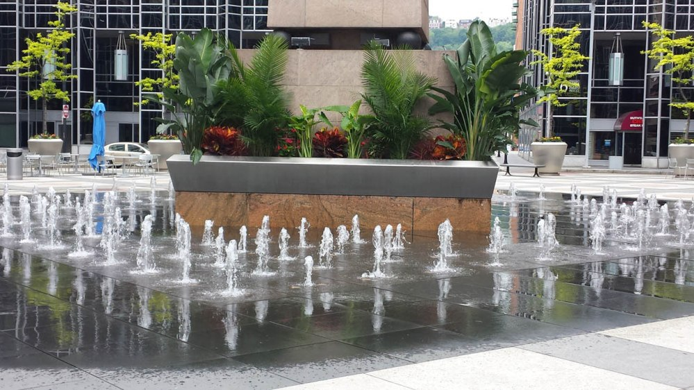 PPG fountain tropical plants