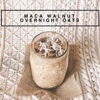 Maca Walnut Overnight Oats