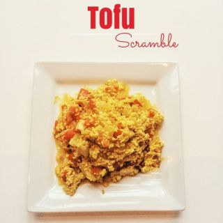 Vegan Oil-Free Tofu Scramble