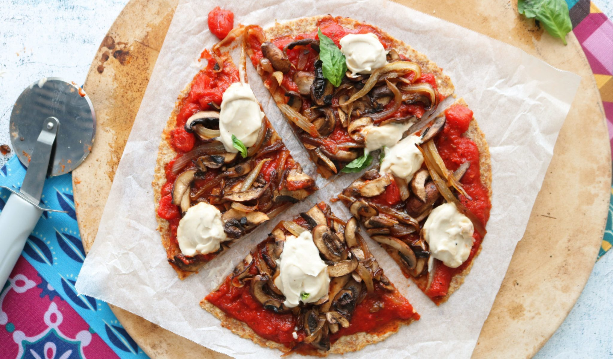 Vegan Pizza Recipe | Mushroom and Caramelized Onion