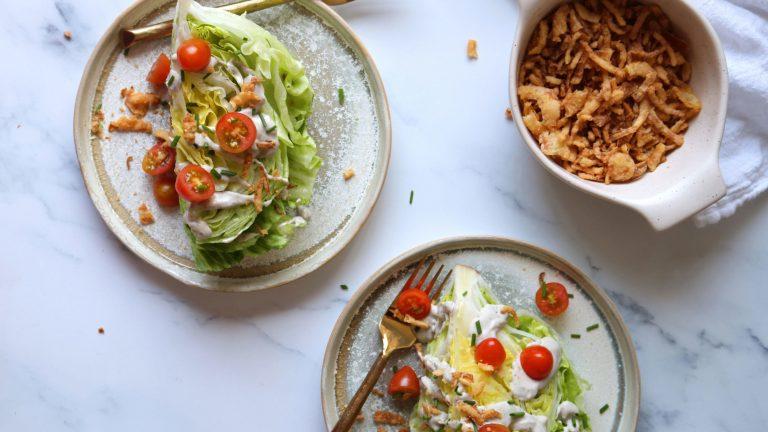 Vegan Wedge Salad Recipe with Vegan Salad Dressing