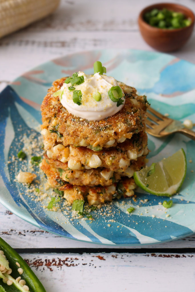 mexican style street corn fritters