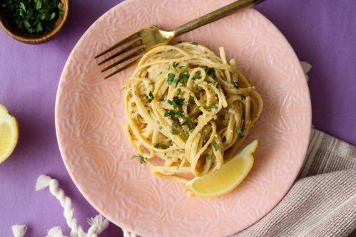 creamy vegan garlic noodles