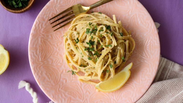 Creamy Vegan Garlic Noodles Recipe