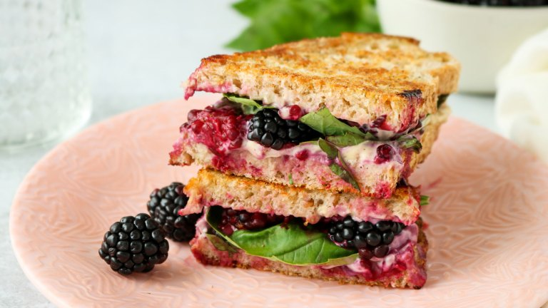 Blackberry & Basil Vegan Grilled Cheese Recipe