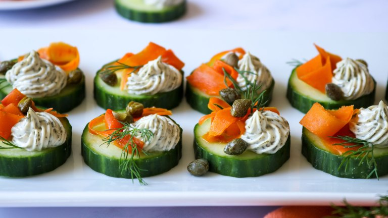 Vegan Smoked Carrot Lox Cucumber Bites Recipe