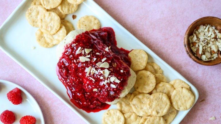Vegan Cheese Log with Raspberry Jalapeño Jam Recipe