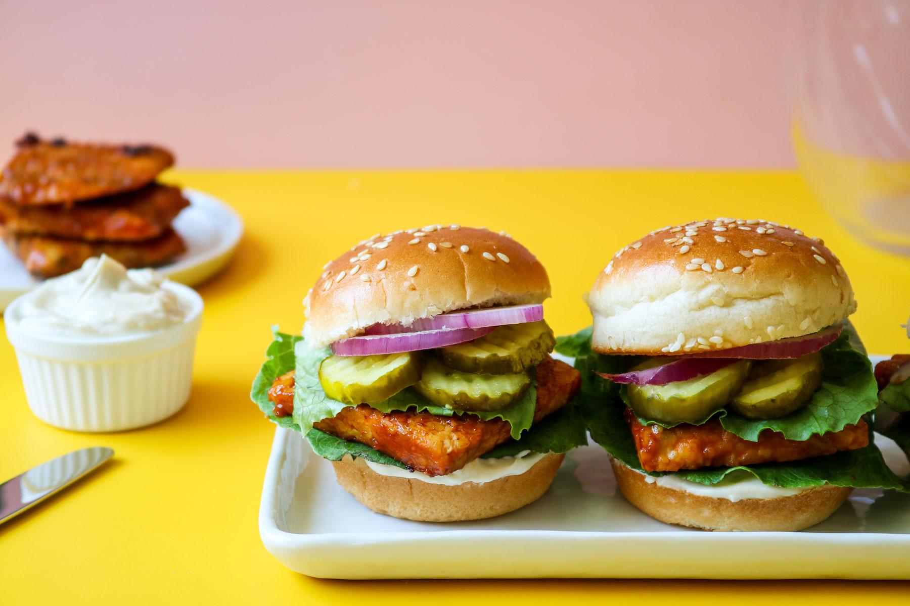 Vegan Smoky BBQ Tempeh Sliders Recipe