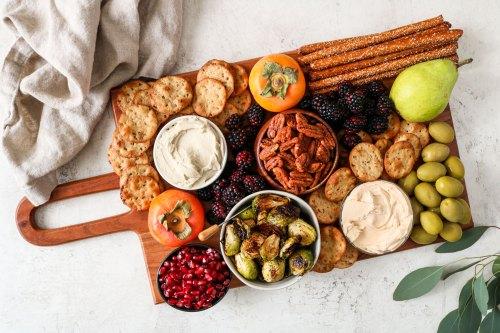autumn vegan cheese board