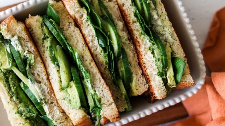 Green Goddess Vegan Grilled Cheese Recipe