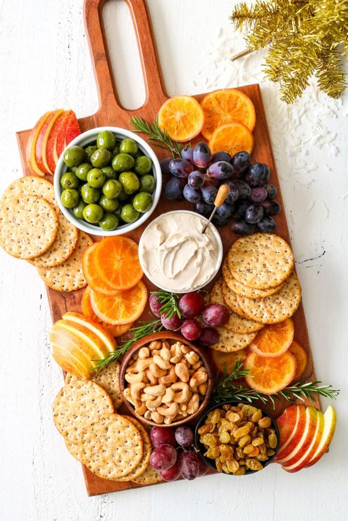 vegan holiday cheese board