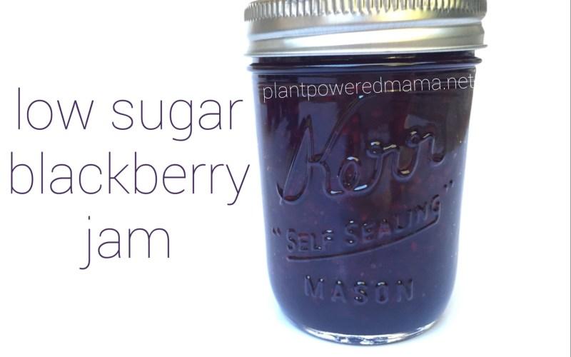 low sugar blackberry jam