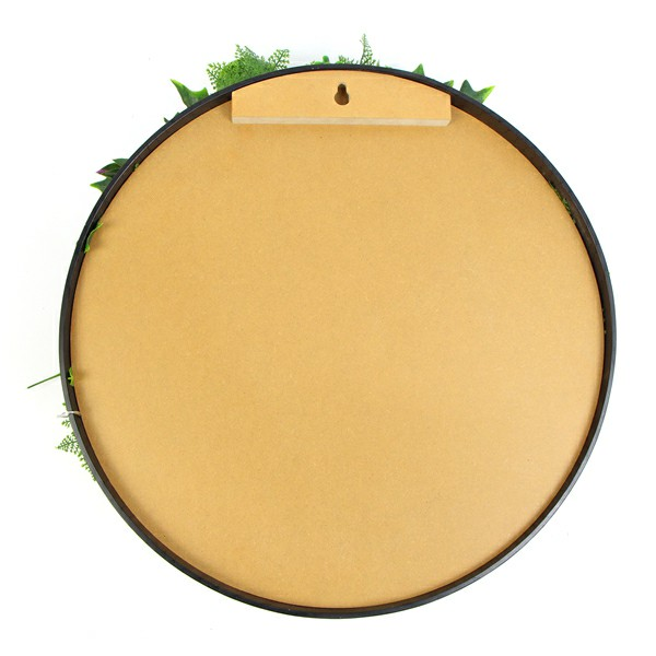 back of artificial plant wall disk