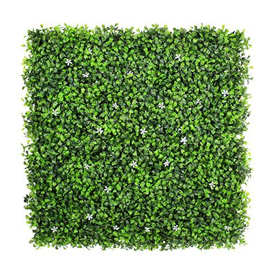 Faux Boxwood Mat with Flowers A036