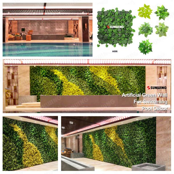 Artificial Plants Decoration For Swimming Pool Uv Protected