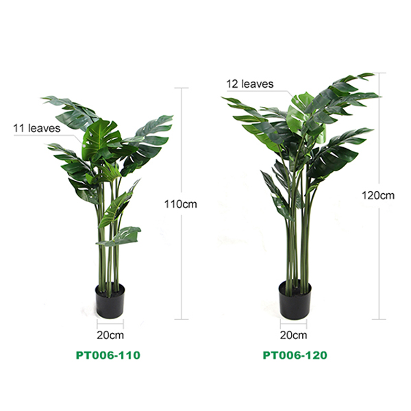 Artificial potted trees Monstera Foliage size