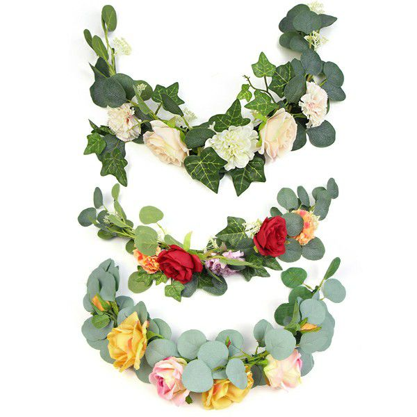 Wedding Artificial Swag Garlands with Greenery and Flowers