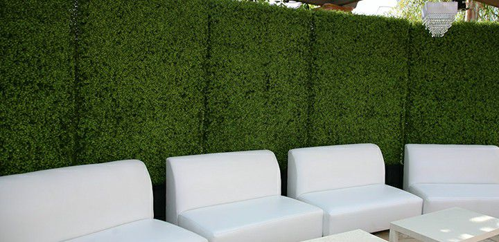 application of commercial grade artificial hedges planters