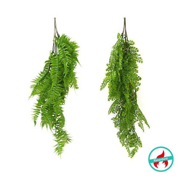 artificial hanging fern plants