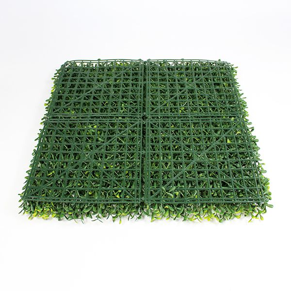 backdrop of artificial box hedging A013