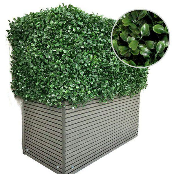 foliage detail of artificial planter A001