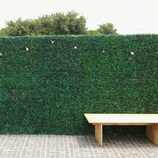outdoor use with artificial box hedges