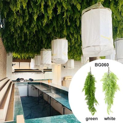 simulated hanging fern for bar wall decor