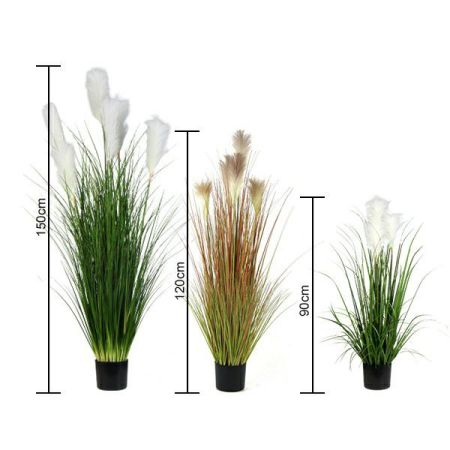 size of artificial pampas grass