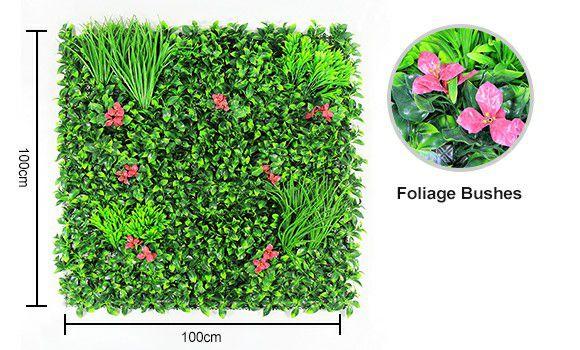 Artificial foliage wall mat