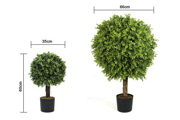 sizes of artificial boxwood tree