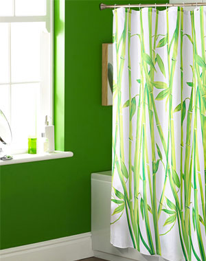 photo image bamboo shower curtain