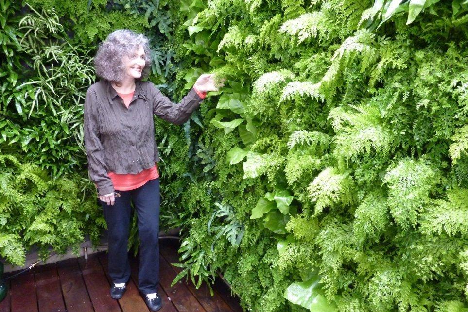 Chris Bribach, Plants On Walls. Fern Well. Florafelt Vertical Garden Planters.