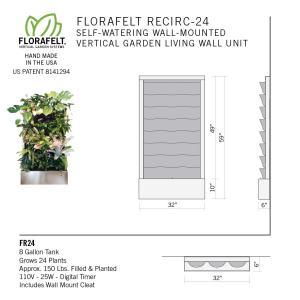Florafelt Recirc 24-Pocket Wall-Mounted Vertical Garden