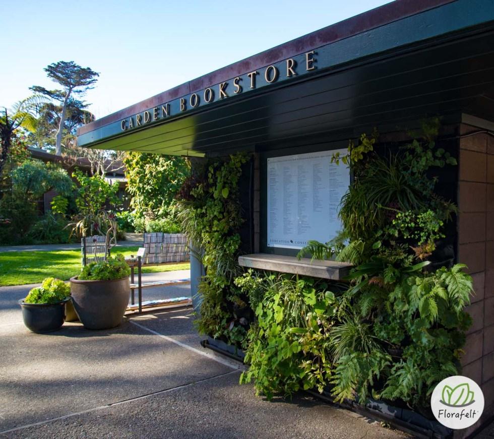 Florafelt Living Wall at San Francisco Botanical Garden Bookstore