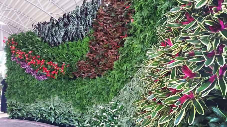 Florafelt Pockets Vertical Garden Bayan Palace Kuwait by Terra Garden