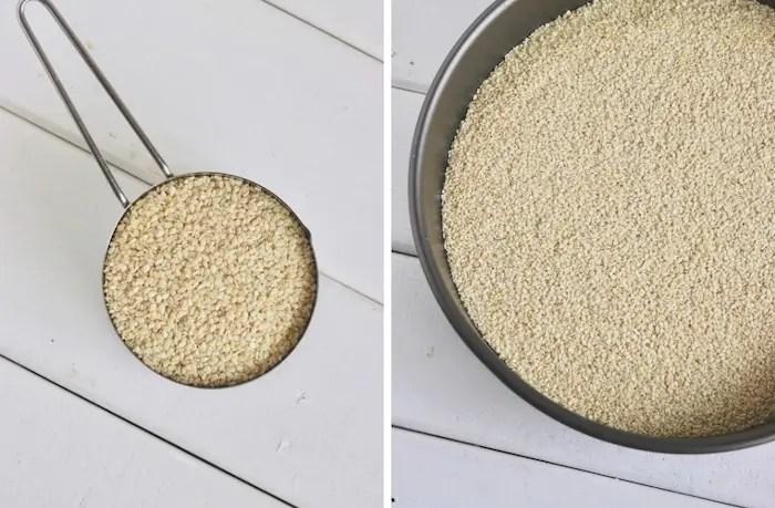 sementes de gergelim para fazer tahine