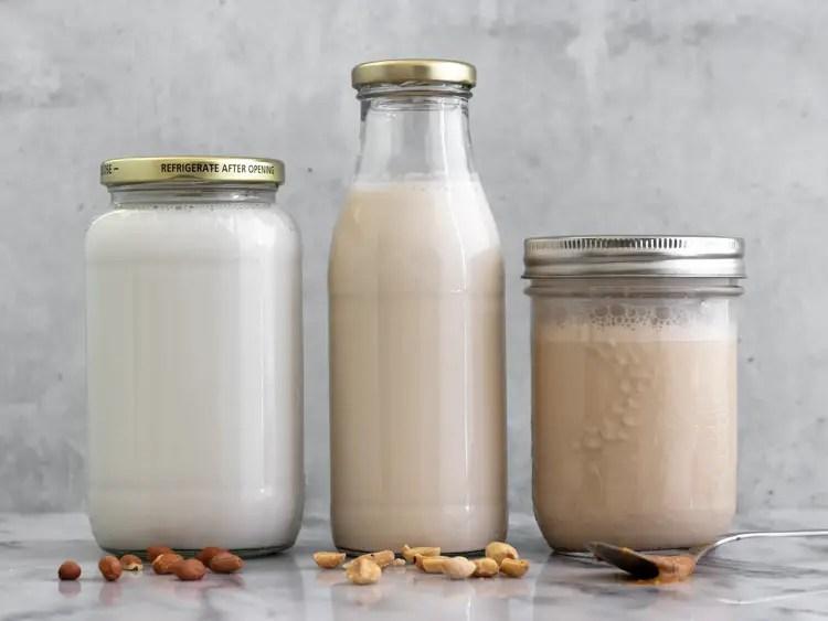 leite de amendoim caseiro