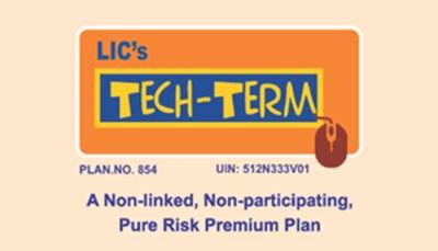 LIC Tech Term Plan No 854 – Online Term Insurance Plan