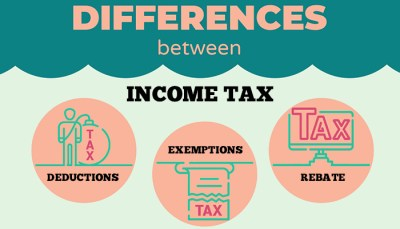Difference Between Income Tax Deductions, Exemptions and Rebate