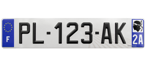 Plaque immatriculation auto SIV