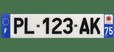 plaque immatriculation plexiglass pour voiture