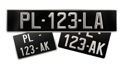 2/voitures standard UE inclus dans la taille Plaque dimmatriculation 520/x 110/mm disque de stationnement