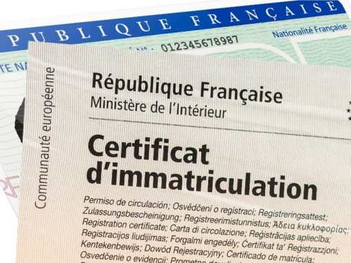 Certificat d'immatriculation et carte grise