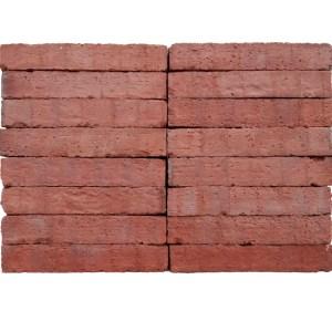 Plaqueta Semimanual Roja Rústica 24x4x1,5cm